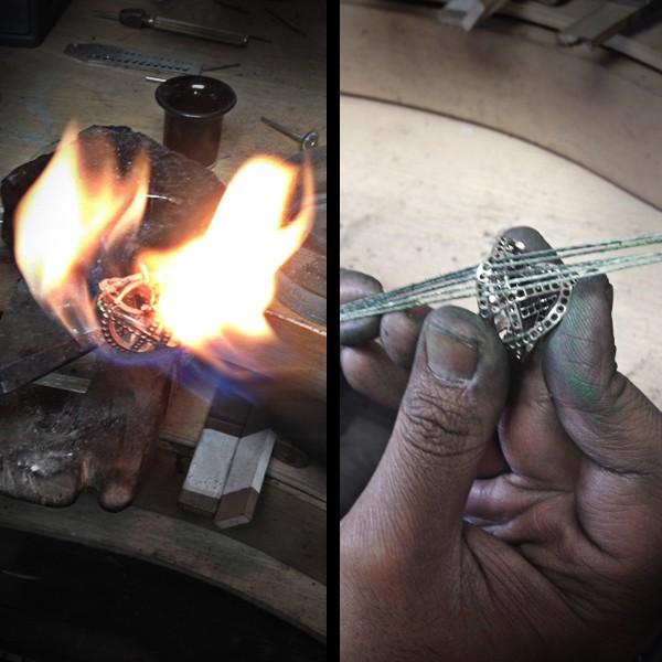 fabrication bague saphir